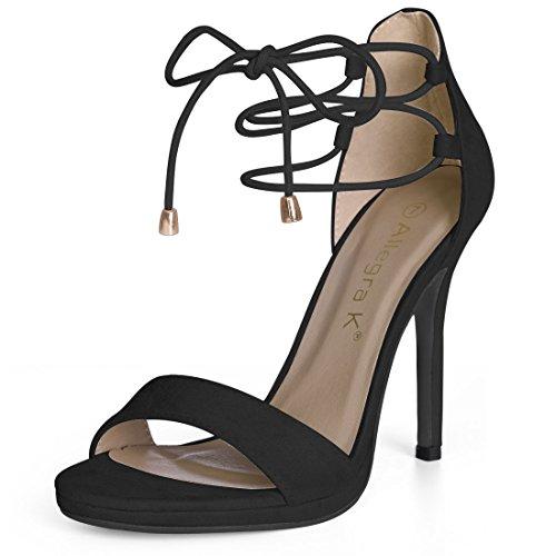 Allegra K Women's Open Toe Stiletto High Heel Ankle Strap Sandals