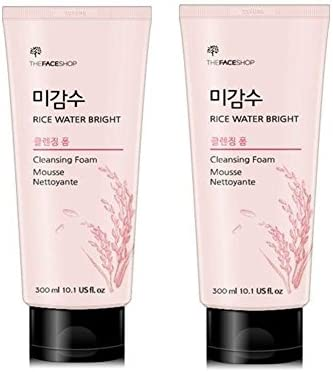 za・feisusyoppu Rice and Water buraitokurenzingufo-mu 300ml X 2 Piece Set Korean Cosmetic, the face shop Rice Water Bright Cleansing Form 300ml X 2ea Set Korean Cosmetics [parallel import goods]