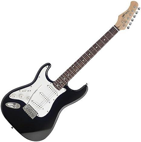 Stagg S300LH-BK - Guitarra eléctrica (para zurdos), color negro: Amazon.es: Instrumentos musicales