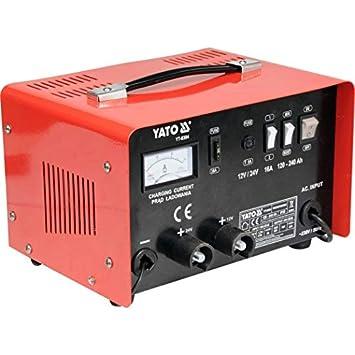 YATO YT-8304 - cargador de batería de 12 / 24v 25a: Amazon ...