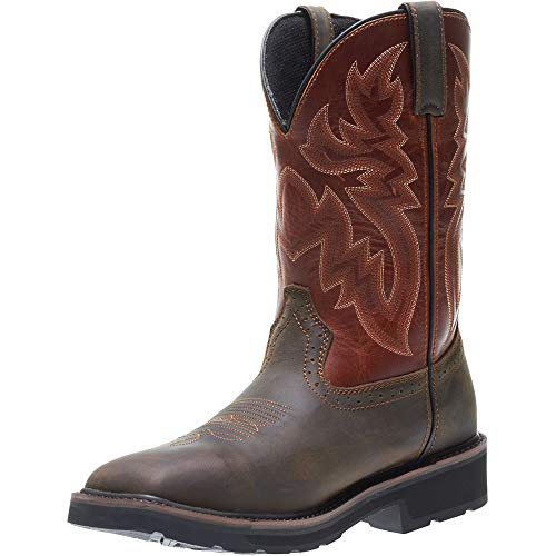 Wolverine Men's Rancher Wpf Soft Toe Wellington Work Boot,Rust/Brown,10 D US by Wolverine (Image #5)