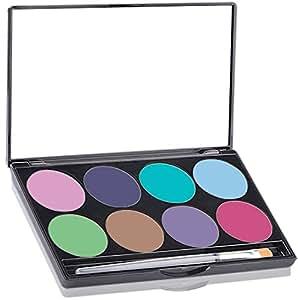 Mehron Makeup Paradise AQ Face & Body Paint 8 Color Palette- PASTEL