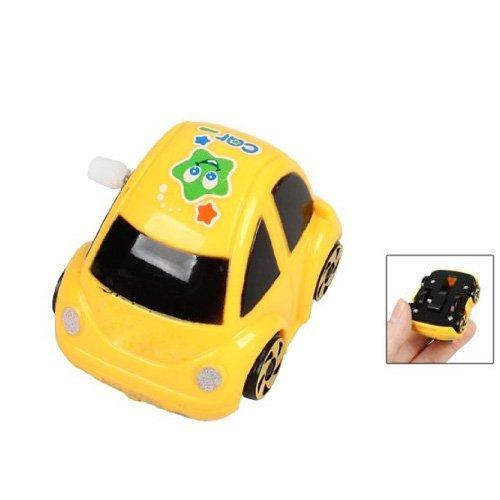 Ltdd子供キッズプラスチックRacing Car Wind Up Toy (イエロー)   B07736HM8D