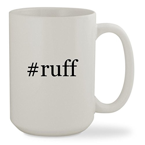 #ruff - 15oz Hashtag White Sturdy Ceramic Coffee Cup - Costume Tom Rider
