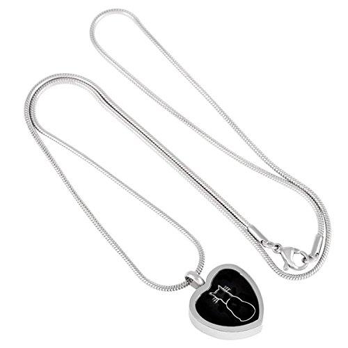Casket Etcetera CAT HEART Memorial Jewelry Urn Necklace Photo #5