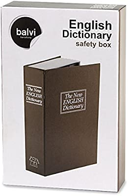 Balvi Caja Fuerte English Dictionary Color marrón En Forma de ...