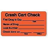 Crash Cart Check Labels 3''W x 1.625''H