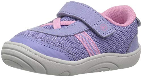 (Stride Rite Girls' SR-Jackson Sneaker, Purple/Pink, 6 M US Toddler)