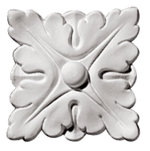 Focal Point 85000 Chelsea Rosette 4-Inch by 4-Inch by 1-Inch, Primed White, 4-Pack