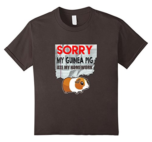 Guinea Pigs In Christmas Costumes (Kids FUNNY GUINEA PIG T-SHIRT ATE HOMEWORK Student Back to School 10 Asphalt)