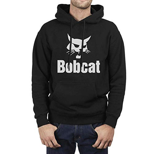 Casual Sweaters Man Long Sleeve Unique White Logo Bobcat Equipment Wool Warm Loose Pullover Hooded - Logo Sweatshirt Hooded Animal