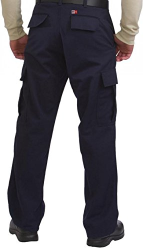 34 Inseam//60 Waist Big Bill 3239US9//OS-NAY-60-34 FR Cargo Pocket Pant 9 oz Westex Ultrasoft Navy