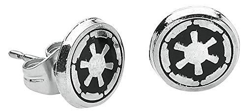(Stainless Steel Star Wars Disney Galactic Empire Symbol Enamel Stud Earrings)