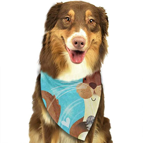 FRTSFLEE Dog Bandana Love of The Otter Scarves Accessories Decoration for Pet Cats and Puppies ()