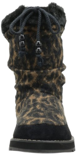 Womens Skechers Snow Keepsakes Womens Knit Animal Boot Skechers Black EEwqznxBp