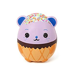 Anboor Squishies Jumbo Poo Kawaii Smiling Emoji Slow Rising Scented Squishies Kids Toy for Gift Collection 1 Pcs Color Randomly