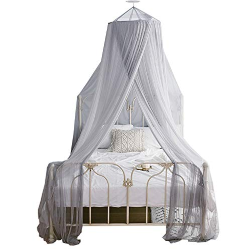 JBailmx Gray Mosquito Net Fit Double Bed Travel Bed Sky The Anti-Mosquito Net Provides Effective Mosquito Repellent, Portable Premium Protective Net for All Bed, Rip-Resistant, Robust,1.8M/6FtBed