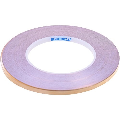 BCP Single-sided Conductive EMI Shielding Copper Foil Tape- 1/4 Inch X 55 Yds