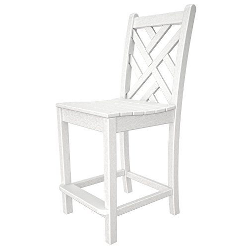 POLYWOOD Chippendale Counter Side Chair Finish: White