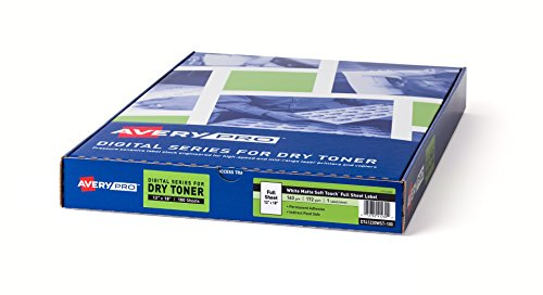 Amazon com averypro clear glossy label stock for dry toner digital presses 12x18 100 sheets 41220 office products