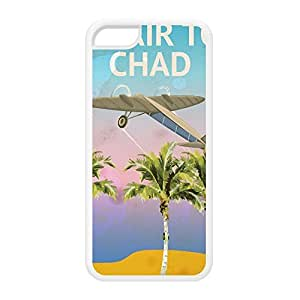 chad White Silicon Rubber Case for iPhone 5C by Nick Greenaway + FREE Crystal Clear Screen Protector wangjiang maoyi