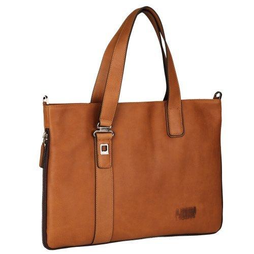 Oneworld Herren Rindleder Messenger Bag Aktentasche Schultertasche Notebooktasche Handtasche Umhängetasche Schultasche Tote Bag 29x39x2cm(BxHxT) Gelb