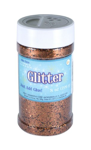 Sulyn 8 oz. Glitter Jar - Copper/Orange Metallic -
