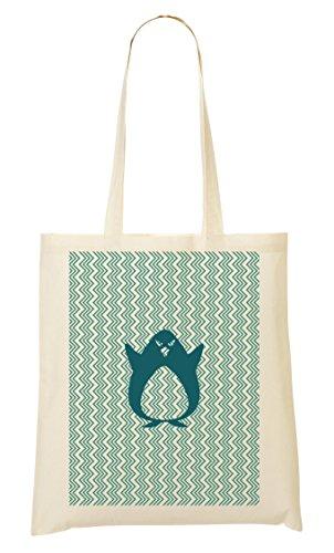 Shutup Funny Joke Angry Penguin Arctic Pattern Handbag Shopping Bag