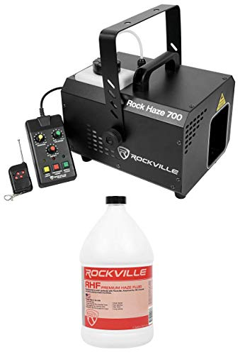 Rockville ROCKHAZE 700 CFM DMX Water Based DJ/Club Haze Machine+Gallon Fluid