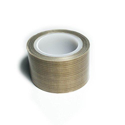 PTFE Coated Fabric Tape Teflon Adhesive Tape High Temperature Vacuum, Hand and Impulse Sealers Machine Sealing Tape 0.18mm Thick (30mm-10M)
