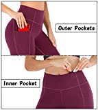 Heathyoga Yoga Pants with Pockets for Women