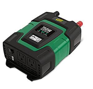 Battery Tender 750W Power Inverter with Alligator Clips, and Reliable 12V DC Input, Dual USB (3.1A Shared) Ports, and 2 AC Outlets for AC Appliances will Power Up Your Outdoor Activities