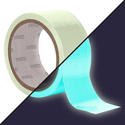 VViViD DECO65 Glow in The Dark Blue Permanent Adhesive Craft Vinyl Tape Roll (1