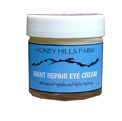 Honey Hills Farm: Night Repair Eye Cream with Peptides and Alpha Hydroxy
