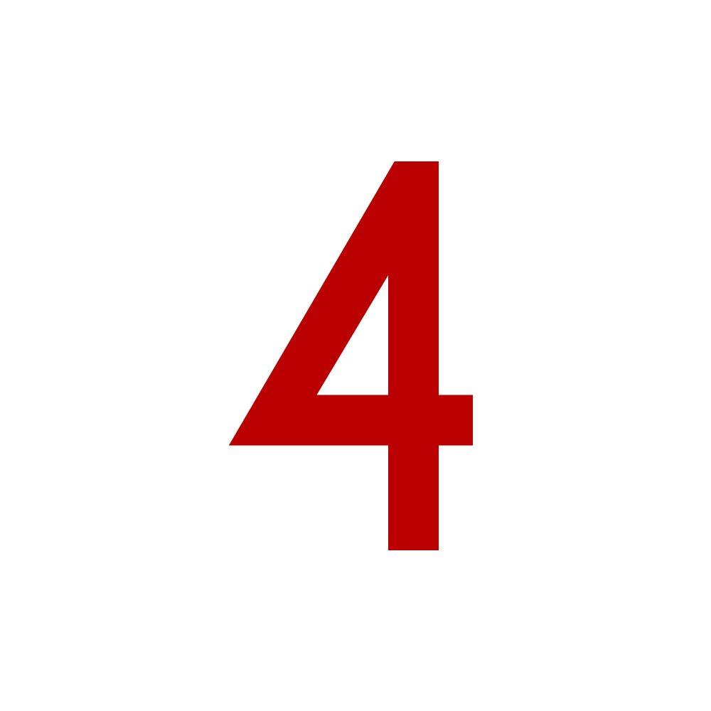 2cm Zahlenaufkleber Nummer 4 gold H/öhen wetterfest Aufkleber mit Zahlen in vielen Farben hoch 20mm