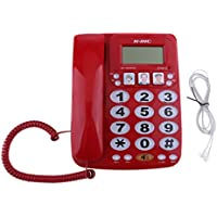 Homyl Retro Phone Telephone Dial Telephone Hotel Business Hotel Stairs Corridor Bathroom Bedside Fixed Landline Without Batteries Phone KX-2035CID Red