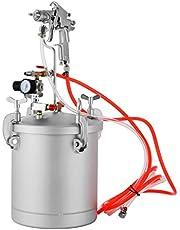 VEVOR Paint Tank 10L Pressure Pot Spray Gun 3M Air Hose Gauge Pressure Tank Paint with 2.5 MM Nozzle For DIY House Painting
