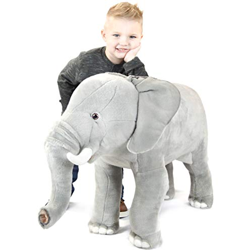 - VIAHART Shahnte The Elephant | 29 Inch Stuffed Animal Standing Plush | Shipping from Texas | by Tiger Tale Toys