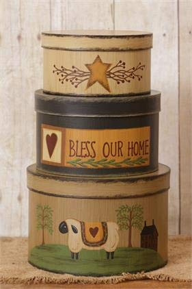 Your Heart's Delight Round Nesting Boxes - Bless Our Home 12-1/2 by 7-1/2