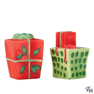 Lenox Holiday Figurals - LENOX Holiday Inspirations & Illustrations The Gift of Friends Salt & Pepper Set Figural