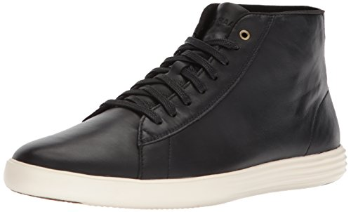 Cole Haan Men's Grand Crosscourt High Top Sneaker, Black Leather, 11 Medium US
