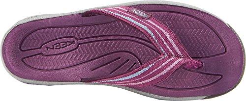 KEEN Womens Kona Flip-W Flat Sandal, Grape Kiss/Grape Wine, 5 M US