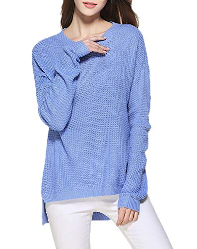 en Mode Hauts Hiver Col Automne Maille Femmes Rond Pull qgStxgTPXw