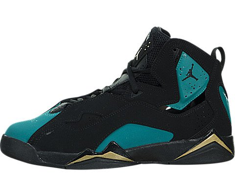 Jordan True Flight Black/Black-Rio Teal (Big Kid) (6.5 M US Big Kid) by Jordan