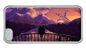 Hipster free for iphone 4/4s case romantic couple bridge sunset art PC Transparent for Apple for iphone 4/4s