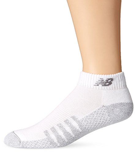 New Balance Unisex 2 Pack Technical Elite Low Cut with Coolmax Socks, X-Large, White