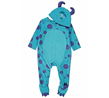 f1d1a2da0b7 Disney Pixar Monsters Inc Sulley Onesie Sleepsuit 6-9 Months with Hat Made  by Disney Baby for George  Amazon.co.uk  Toys   Games