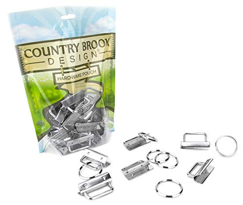 (Country Brook Design 50 1 1/2 Inch Key Chain Fob Wristlet Hardware Set with.)