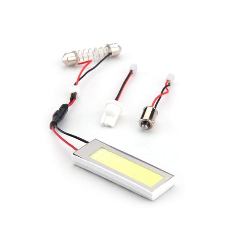 Ndier Pannello interno Led Light Car Interior 36COB dell'automobile LED della lampada di lettura automatica del piatto della luce del tetto del soffitto interno lampada Wired Con T10 & festone Adapter Illuminazione