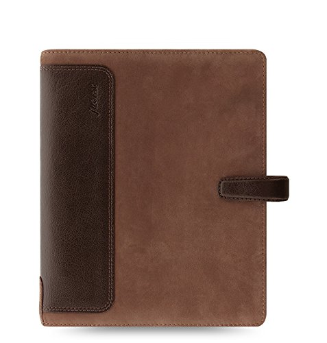 (Filofax Holborn Leather Organizer Agenda Calendar A5 Size in Nubuck Brown with DiLoro Jot Pad Refills (A5, Nubuck Brown 2017, 026041))